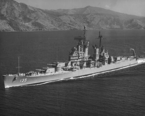 Navy Ship  Heavy Cruiser U S S  Los Angeles  Ca 135