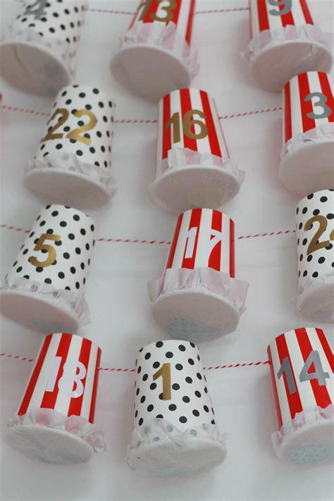 diy advent calendar tutorial paper cup advent homemade
