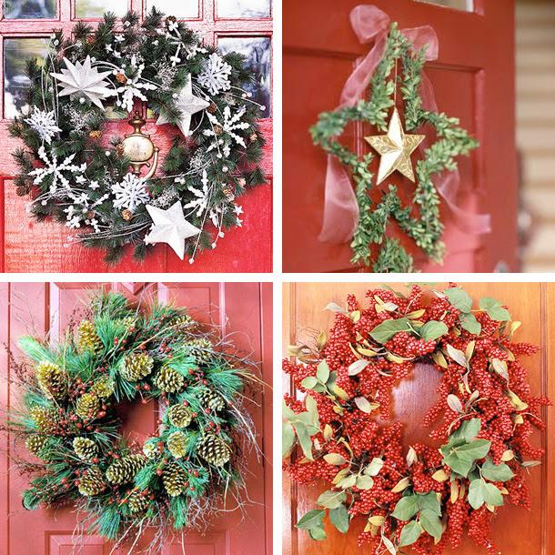 33 Holiday Wreaths Door Decor Ideas | DigsDigs