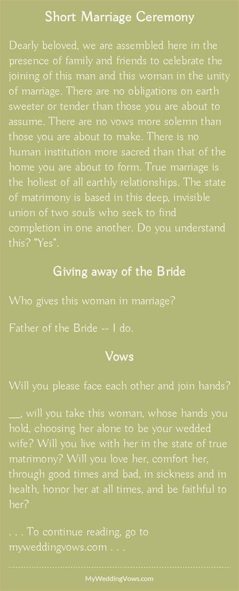 Short Marriage Ceremony   Wedding   Wedding ceremony