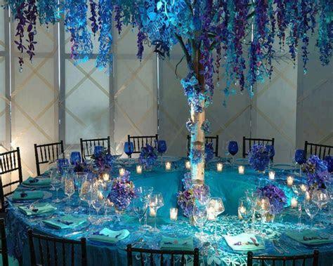 Blue and Aqua wedding reception   Weddings   Pinterest