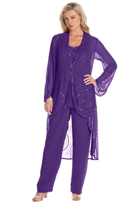 size  piece beaded pantset pant suits wedding