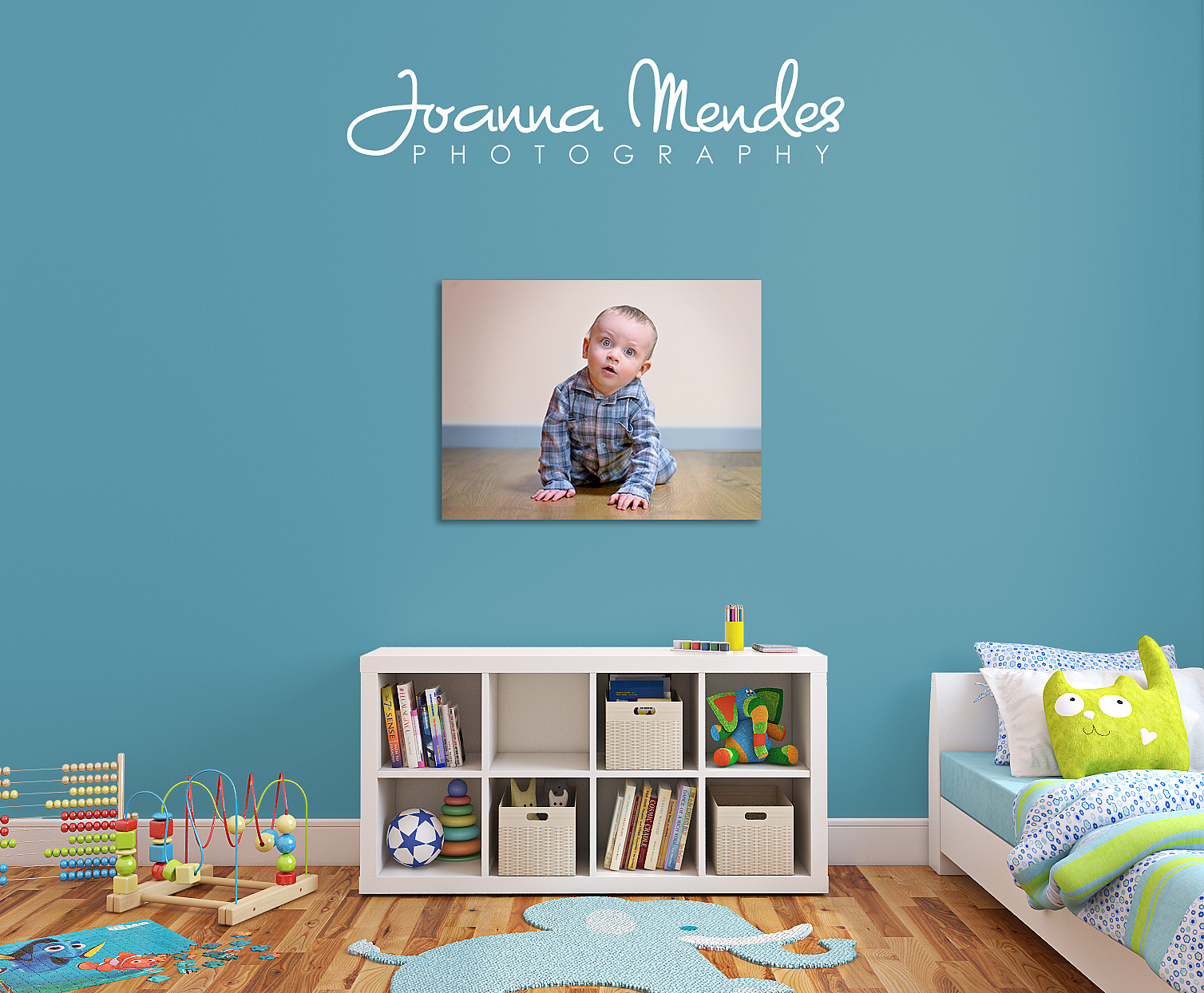Baby Wall Canvas Display by Joanna Mendes Photography in Launceston Cornwall