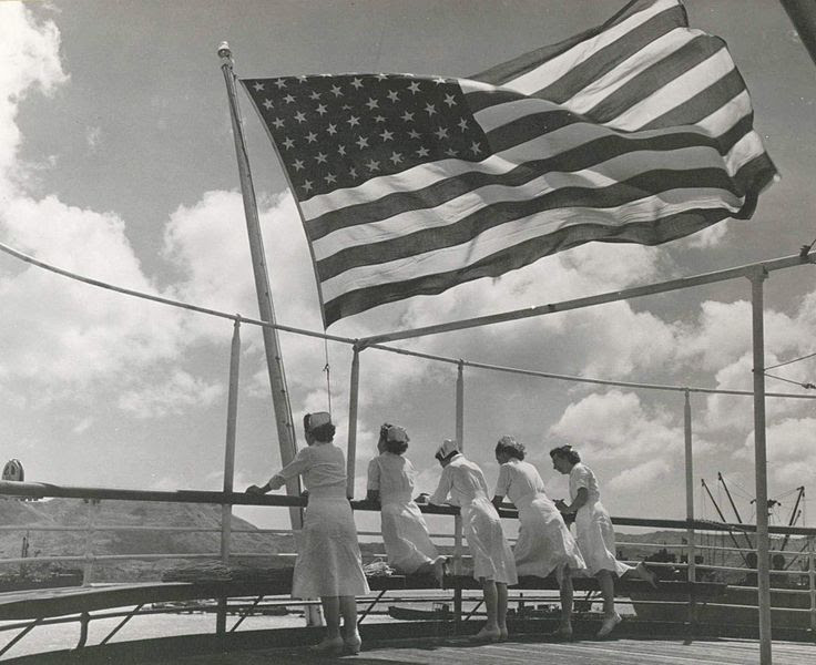 File:Navy nurses aboard the USS Solace in the Pacific - 1945.JPG