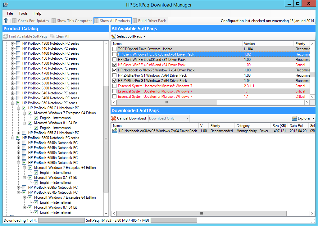 HP Softpaq Download Manager - Great tool, but there is ...