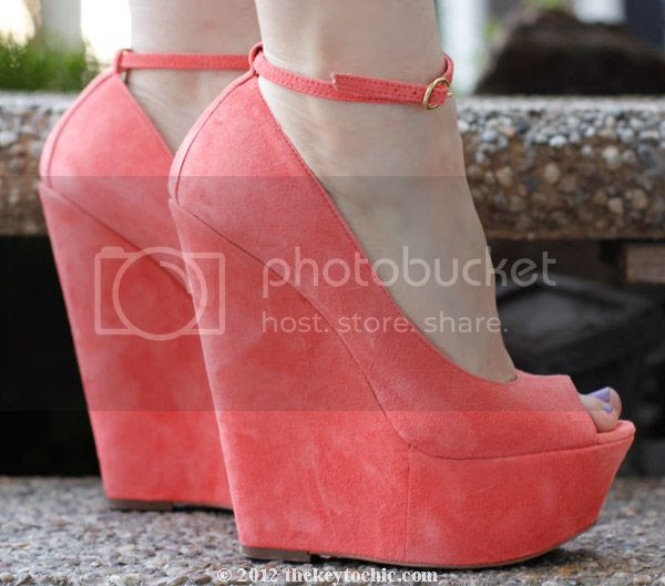 Wild Pair Jemma WP peep-toe wedges, Los Angeles fashion blog