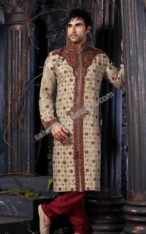 Designer Men Wedding Sherwani   Men Salwar Shalwar Kameez