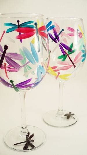 Flip Flop Hand Painted Wine Glasses Set of 4 by