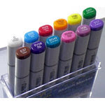 Too Corporation Copic Ciao Sketch Dual Tip Markers 12 Piece Set Basic Brights