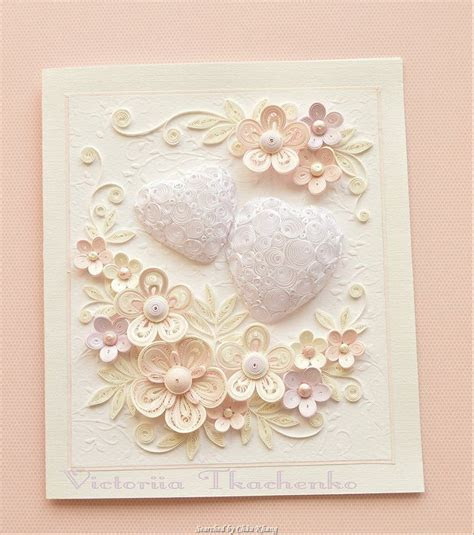© Victoriia Tkachenko  Quilled wedding cards (Searched by