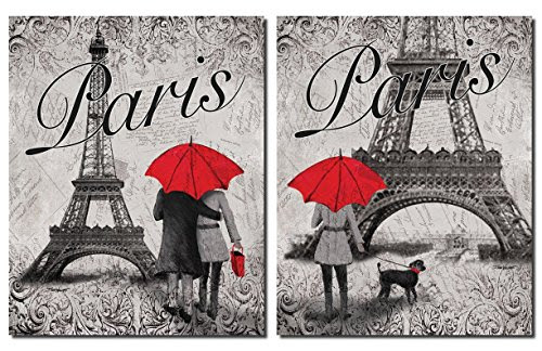 Strolling In Paris Two Beautiful 11 X 14 In Poster Prints Import