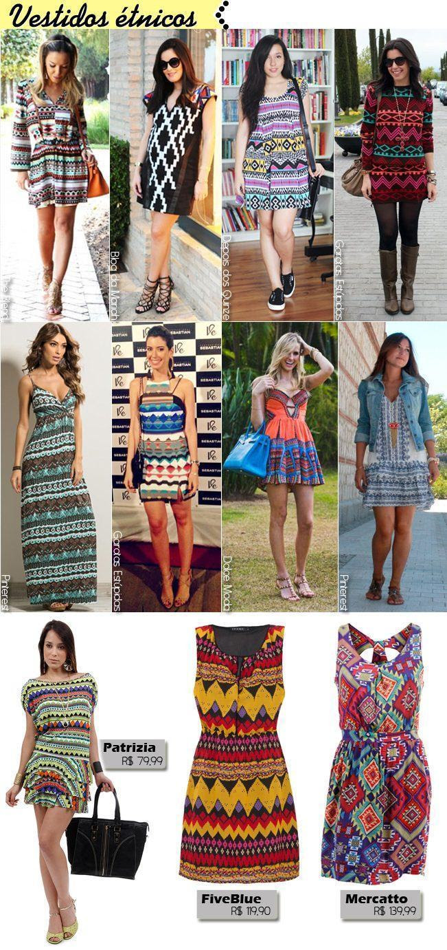 vestidos étnicos