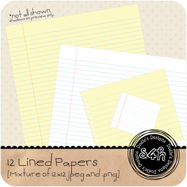 Lined Paper - Notebook Style - {PU} {S4H} - Freebie