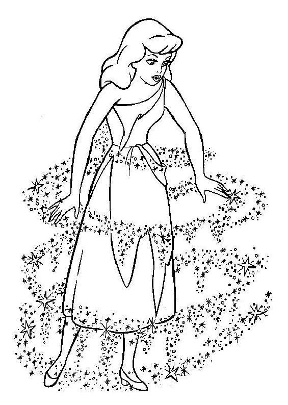 Coloriage A Imprimer Cendrillon Se Transforme En Princesse Gratuit
