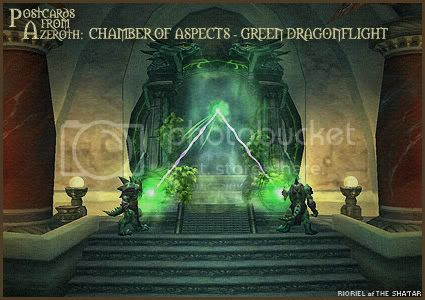 Postcards of Azeroth: Chamber of Aspects - Green Dragonflight, by Rioriel Ail'thera