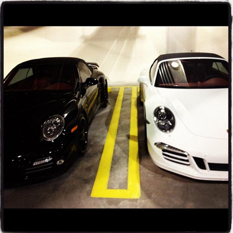 All that savvy has allowed him to buy some sweet toys. Dwyane Wade and he have matching Porsches. It's unclear who has which color.