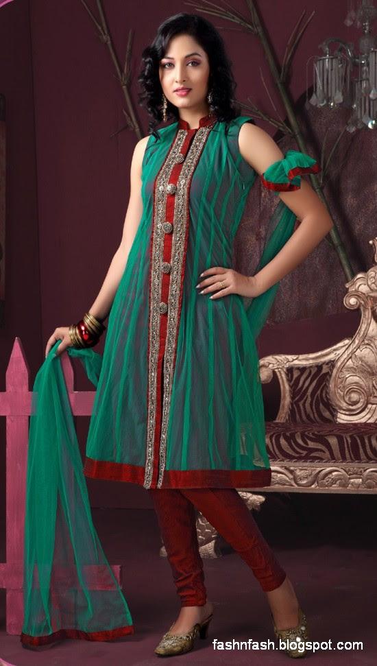 Anarkali Umbrella Fancy Frocks-Indian-Pakistani New Latest Dress Designs Collection 2013-3