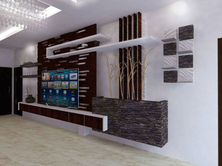 Interior Design For Indian Tv Units Google Search Wall