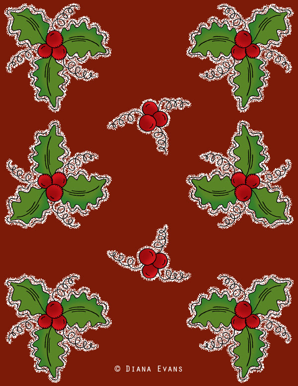 holly berry red wrap