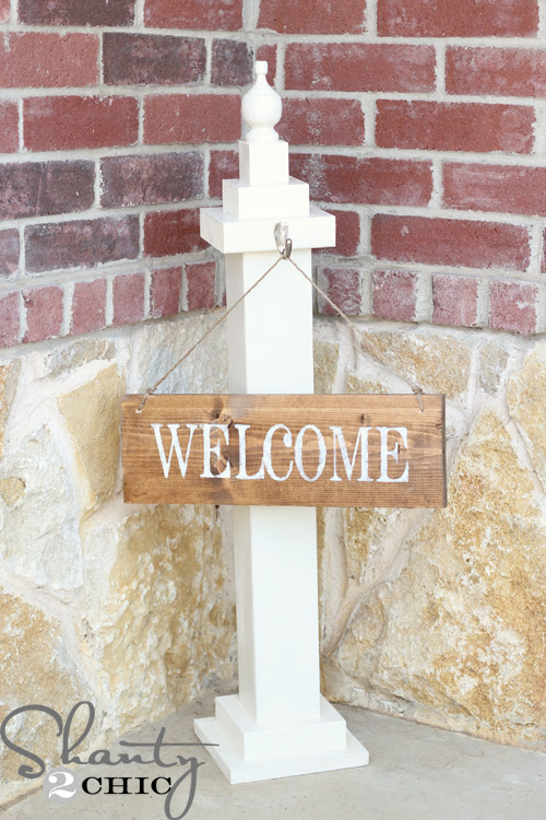 Silhouette idea, curb appeal, home, welcome sign