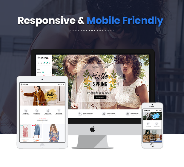 MiZa - Multipurpose Responsive Fashion Shopify Theme with Sections