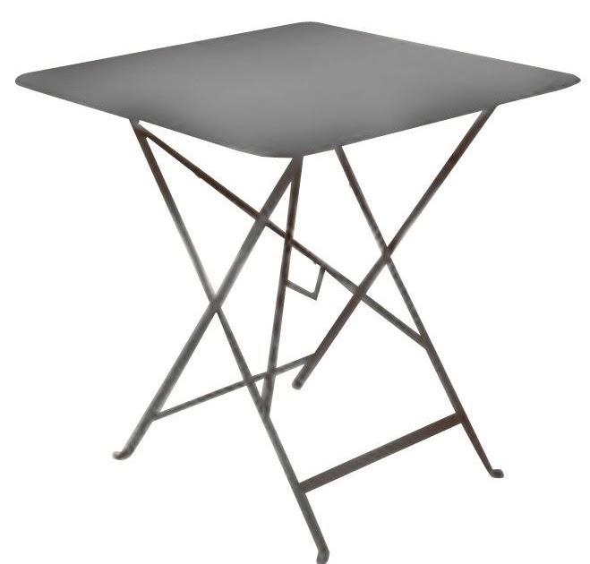Table metal pliante