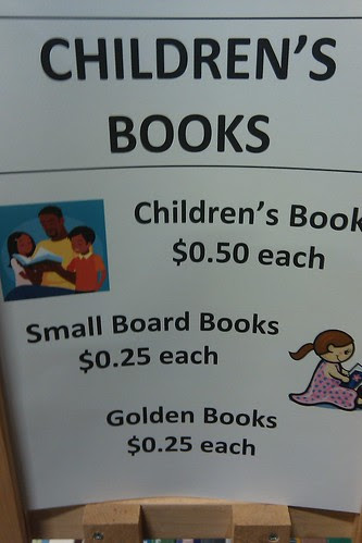 Book sale: children's book prices