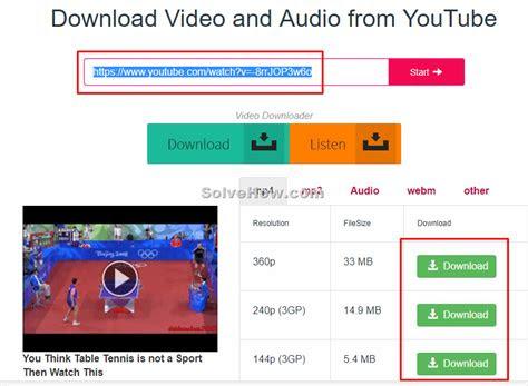 youtube     solvehowcom