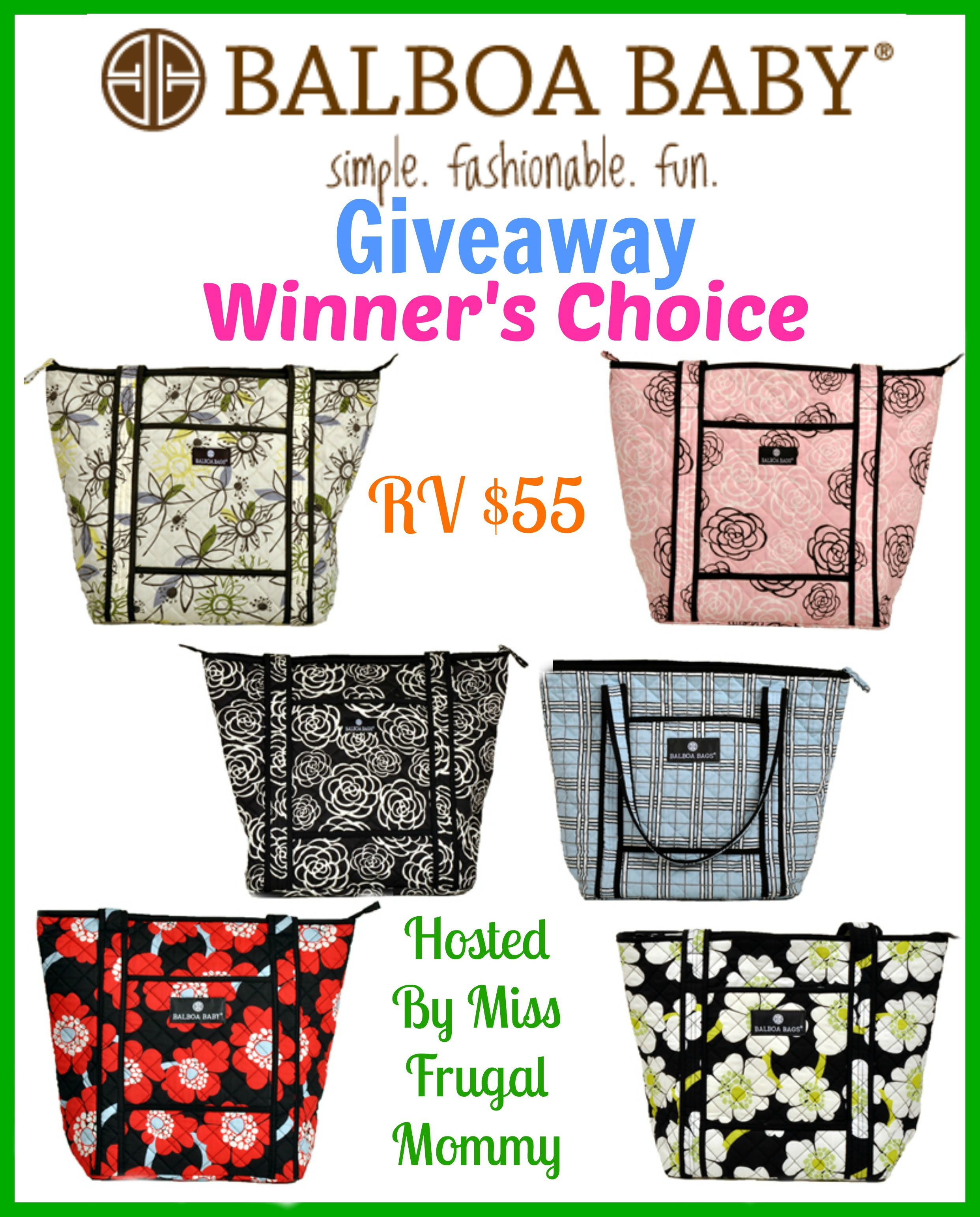 Balboa Baby Tote Giveaway (Winner's Choice)