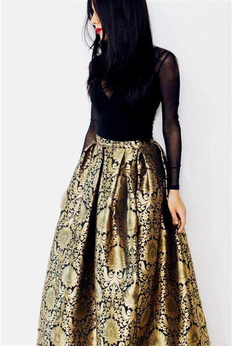 elegant black brocade lengha skirt shop   poppylane