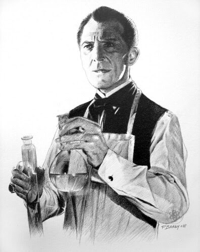Peter Cushing (by pbradyart)