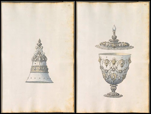 designs for ornamental bell and chalice