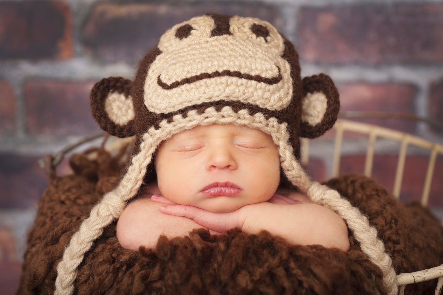 PDF Marvin the Monkey hat CROCHET PATTERN in 5 different sizes for babies and adults