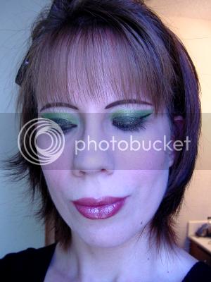 smokey green eye makeup. Smokey Green Eyes w/Nude Lips