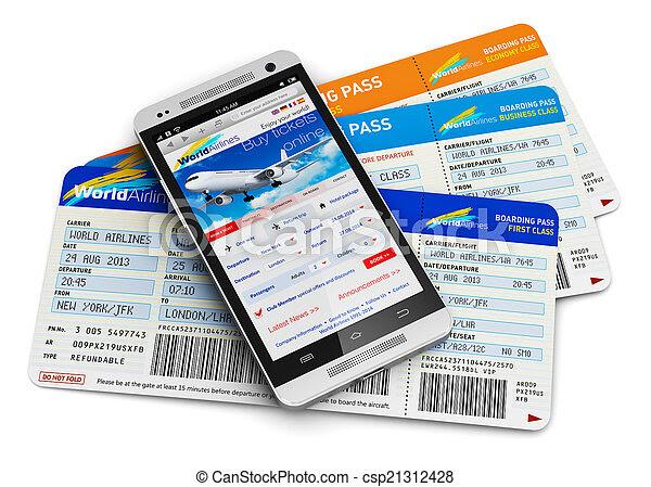 Buying air tickets online - csp21312428
