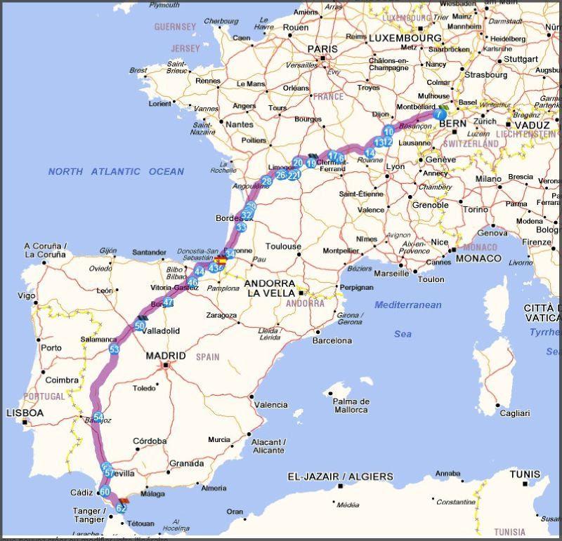 25 Belle Carte France Espagne Maroc