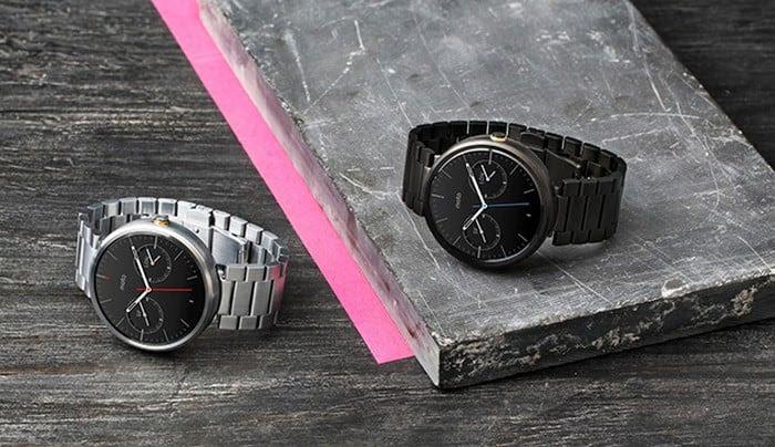 moto360 braceletes metal
