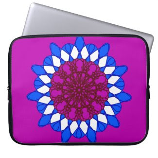 Giant Mandala Design on Laptop Sleeve