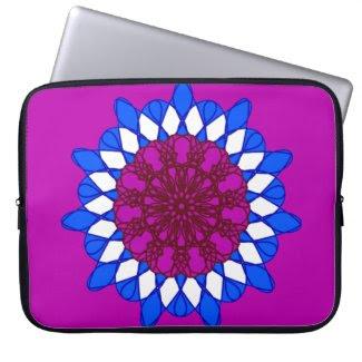 Giant Mandala Design on Laptop Sleeve