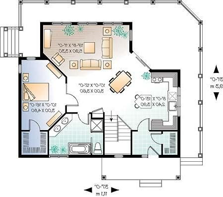 Casas de madera prefabricadas casas alpinas planos gratis for Plano habitacion online