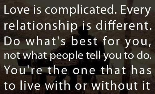Complicated Relationship Quotes. QuotesGram