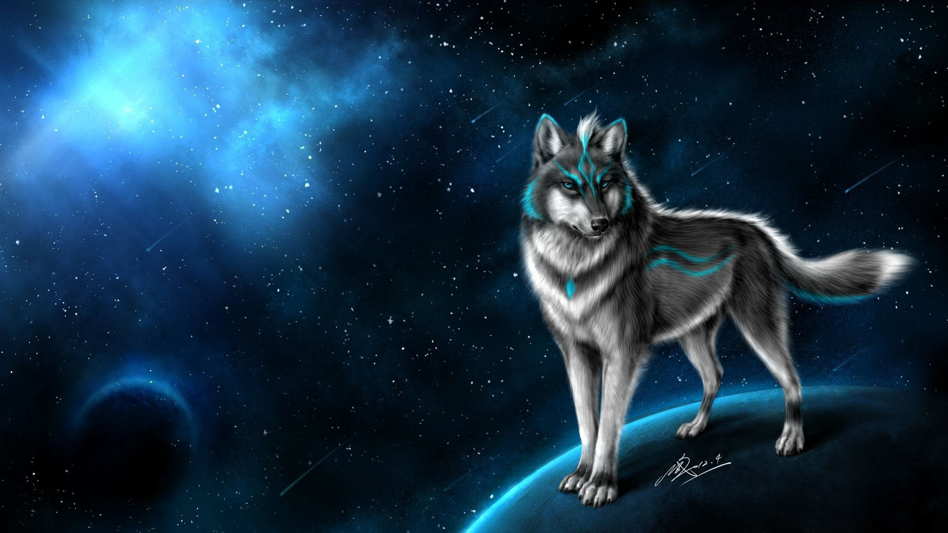 Galaxy Wolf Wallpaper 69 Images - pictures of wolves with a galaxy background