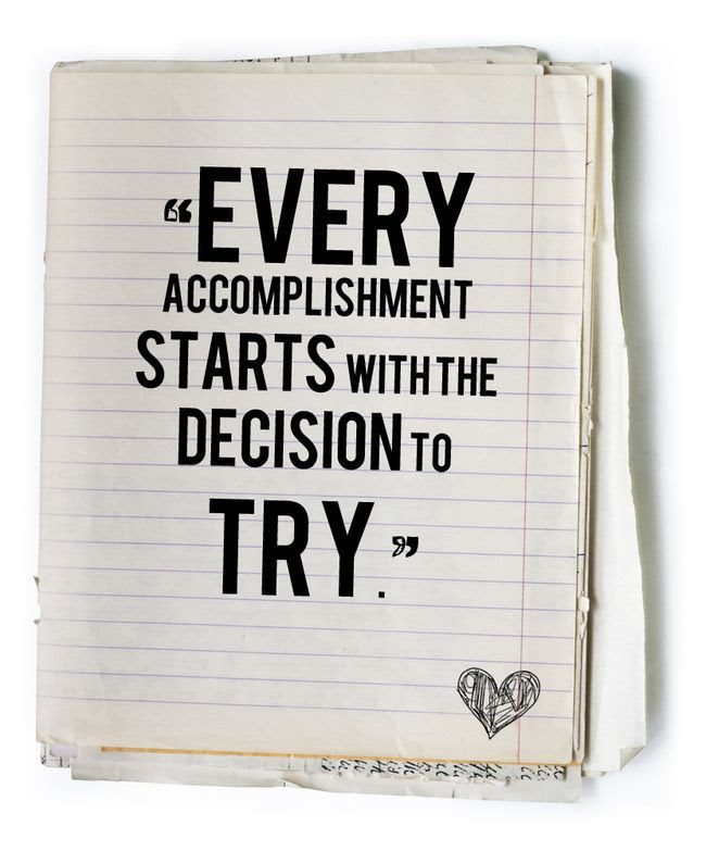 Deciding to try is a great first step! #Backtoschool
