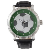 American Soccer or Association Football Wrist Watches