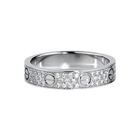 Cartier Love Wedding Band Diamond paved White Gold Ring