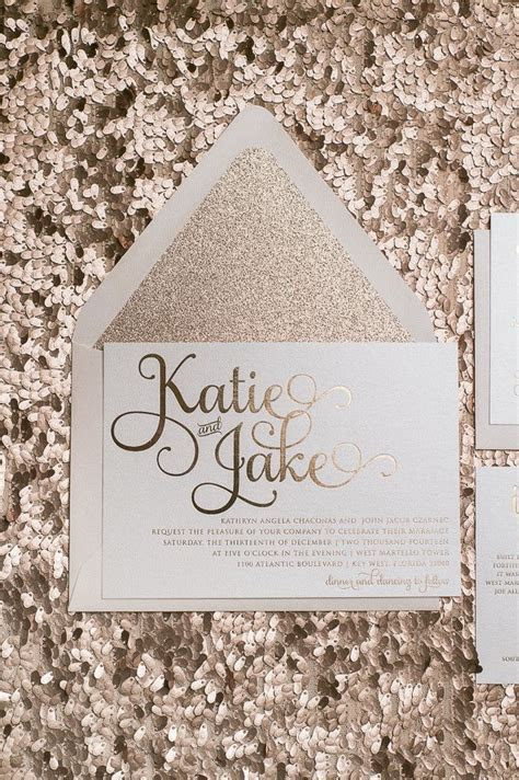 TO DIE FOR Rose Gold wedding invitations! Rose gold foil