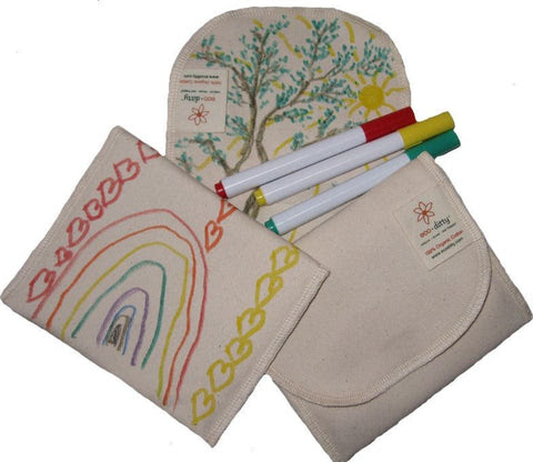 Ecoditty Snack Ditty Color Your Own Organic Snack bag