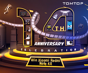 Tomtop 14th Anniversary Celebration Countdown