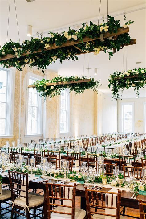 Suspended ladder with greenery   Floral Ceiling Elements