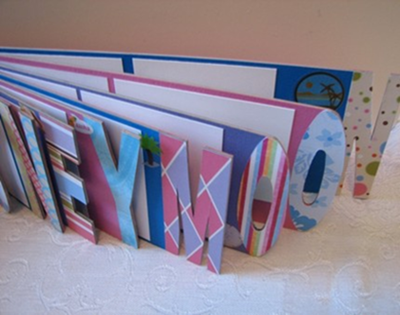 photo of custom word album